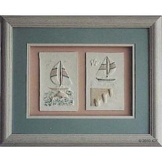 Cast Paper 'Sailboat Combo I & III' 13x16 Indoor or Outdoor Option Available