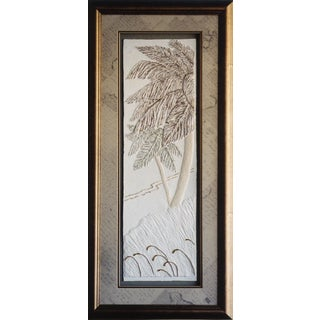 Cast Paper 'Palms II' 19x40 Indoor or Outdoor Option Available