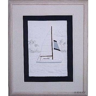 Cast Paper 'Day Sailing I' 18x22 Indoor or Outdoor Option Available