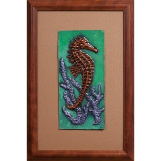 Cast Paper 'SeaHorse l' 12x18 Indoor or Outdoor Option Available
