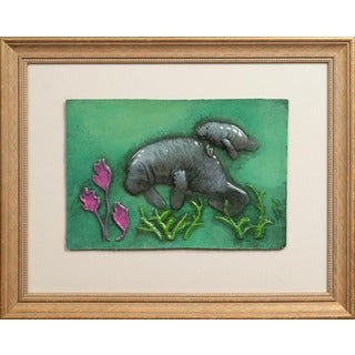 Cast Paper 'Med.Manatee' 19x23 Indoor or Outdoor Option Available