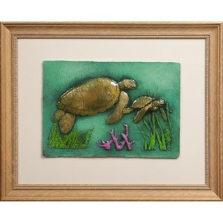 Cast Paper 'Med. Turtle' 19x23 Indoor or Outdoor Option Available