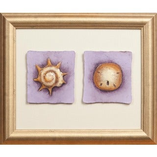 Cast Paper 'Sand Dollar & Pinion' 10x12 Indoor or Outdoor Option Available