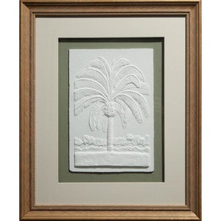 Cast Paper 'Pygmy Date Palm' 19x23 Indoor or Outdoor Option Available