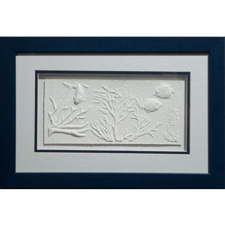 Cast Paper 'Sea Reef l' 12x18 Indoor or Outdoor Option Available