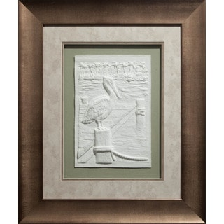 Cast Paper 'Med. Pelican l' 22x26 Indoor or Outdoor Option Available