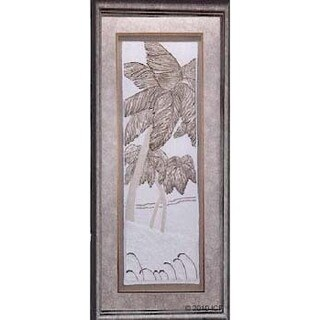 Cast Paper 'Palms I' 19x40 Indoor or Outdoor Option Available