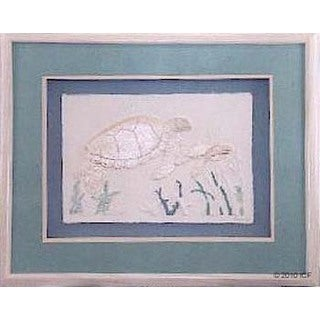 Cast Paper 'Med. Turtle w/Baby' 18x22 Indoor or Outdoor Option Available