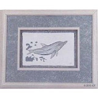 Cast Paper 'Sm. Dolphin I' 10x12 Indoor or Outdoor Option Available