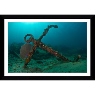 Craig Dietrich 'Copenhagen Anchor' Framed Plexiglass Underwater Photography
