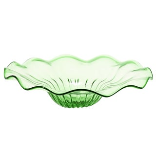 Urban Designs Green 19-inch Large Decorative Glass Bowl