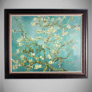 Branches With Almond Blossom 46-inches x 36-inches Framed Art Print