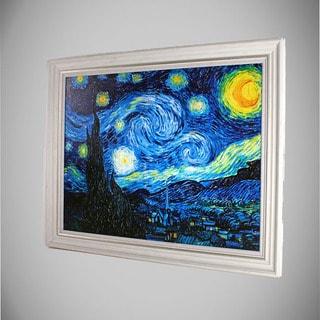 Vincent van Gogh 'Starry Night' Framed Canvas Art