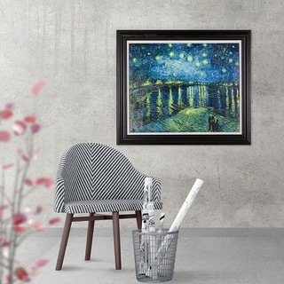Starry Night Over Rhone 36-inch x 30-inch Framed Art Print