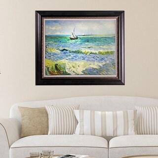 Vincent Van Gogh 'Seascape at Saintes' Framed Canvas Art