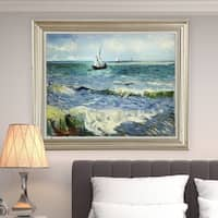 Vincent Van Gogh 'Seascape at Saintes-Maries' Canvas Art