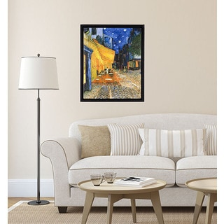 Vincent van Gogh 'Cafe Terrace on the Place de Forum in Arles at Night' Canvas Art