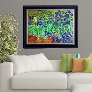 Vincent van Gogh 'Irises' Framed Canvas Art