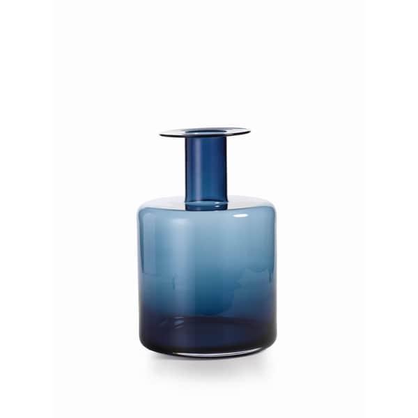 """""""La Sardaigne"""" 16"""" Tall Wide Vase, Midnight Blue"""