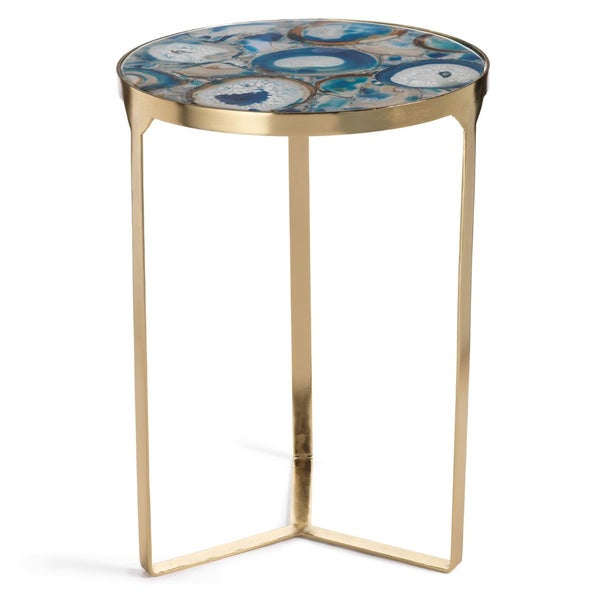 20 Inch High La Sardaigne Blue Agate End Table Free