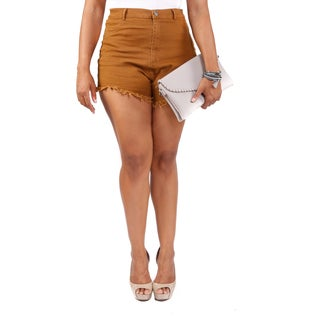 Hadari Women's Plus Size High Rise Shorts