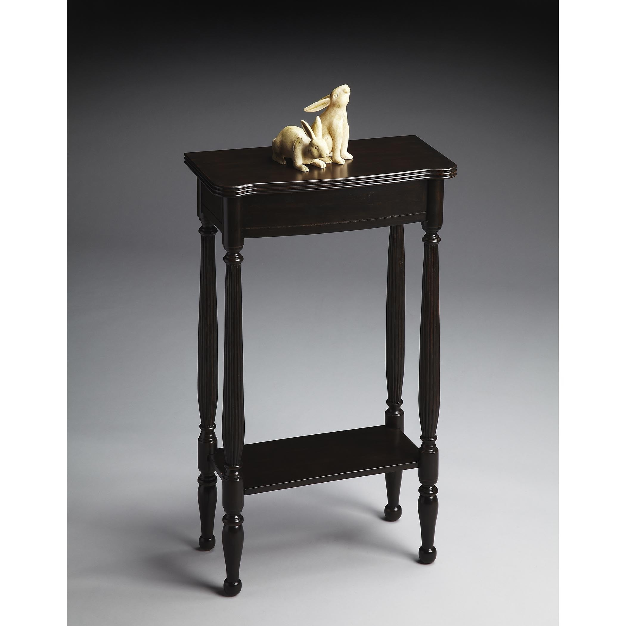 Shop Butler Whitney Transitional Rubbed Black Rectangular Console Table Overstock 12088090