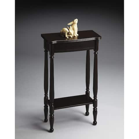Butler Whitney Transitional Rubbed Black Rectangular Console Table