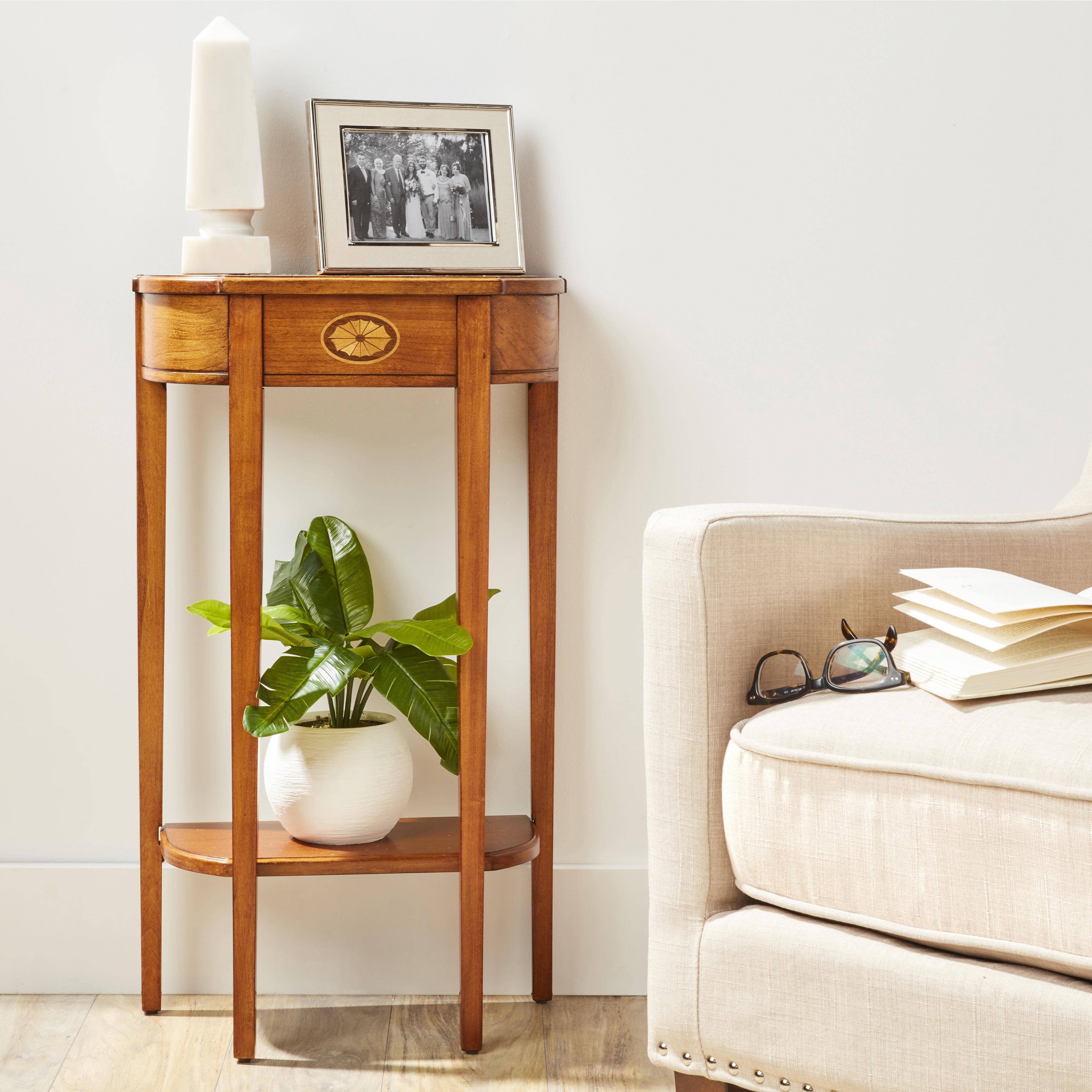 Butler Wendell Olive Ash Burl Demilune Console Table - Medium Brown (Medium Brown)
