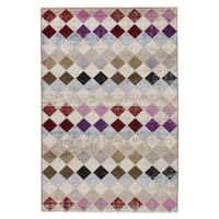 Mevlana Geometric Multicolor Area Rug (2' X 3')
