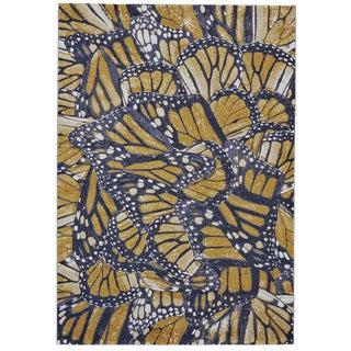 Grand Bazaar Capri Cornflower Black/Grey/Yellow Polypropylene Machine-made Rug (5' x 8')