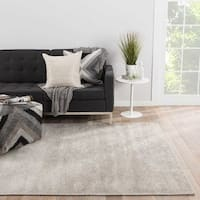 Axis Handmade Solid Silver Area Rug (2' X 3') - 2' x 3'