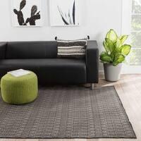 Tomaz Indoor/ Outdoor Geometric Black/ Gray Area Rug (2' X 3') - 2' x 3'