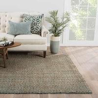 Seaton Natural Trellis Tan/ Turquoise Area Rug - 2x3