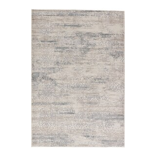 Windsor Damask Taupe/ Gray Area Rug (2' X 3')