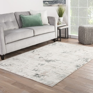 Venture Abstract Beige/ Gray Area Rug (2' X 3')