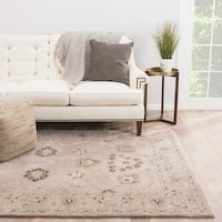Ophelia Handmade Floral Taupe/ Green Area Rug (2' X 3')