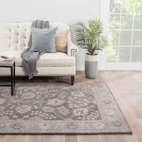 Ophelia Handmade Floral Gray/ Tan Area Rug (2' X 3')