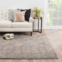 Winslet Handmade Floral Gray/ Brown Area Rug (2' X 3')