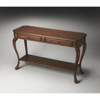 Butler Channing Olive Ash Burl Console Table