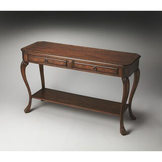 Handmade Butler Channing Olive Ash Burl Console Table (China)