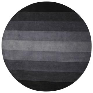 Black to Grey Stripes Rug (8' Round)