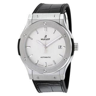 Hublot Men's 511.NX.2611.LR 'Classic Fusion Opaline' Automatic Black Leather Watch