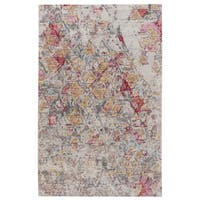 Mara Abstract Beige/ Pink Area Rug - 2' X 3'