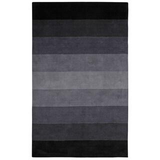 Black to Grey Stripes Rug (8' x 10')
