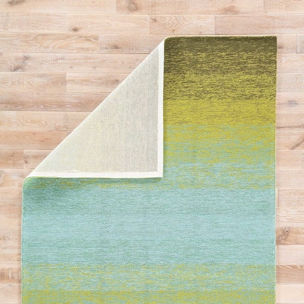 Channel Indoor Outdoor Ombre Lime Green Turquoise Area Rug 2 X 3