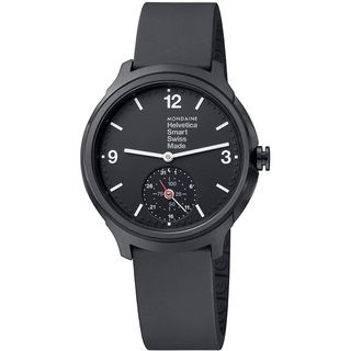 Mondaine Men's MH1B2S20RB 'Helvetica No. 1 Bold Smart' Black Rubber Watch