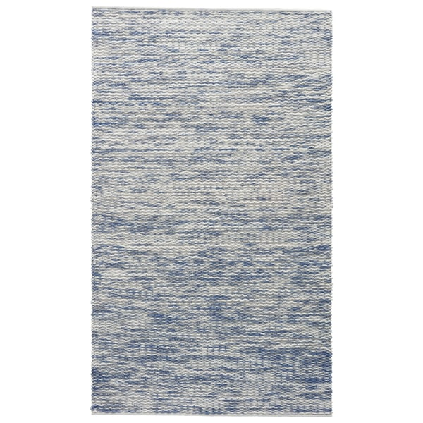 Shop Lakota Solid White Blue Area Rug 2 X 3 On Sale Free
