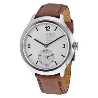 Mondaine Men's MH1B2S80LG 'Helvetica No. 1 Bold Smart' Brown Leather Watch