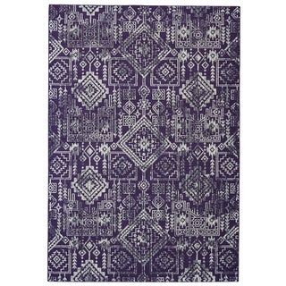 Grand Bazaar Saunders Violet Machine-made Rug (8' x 11')
