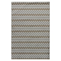Rowena Chevron Gray/ Tan Area Rug - 7'6 x 9'6
